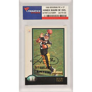 Hines Ward Pittsburgh Steelers Fanatics Authentic Autographed 1998 Bowman Rookie #27 Card with Steeler Nation Inscription