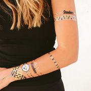 Pittsburgh Steelers Metallic Fashion Tattoos