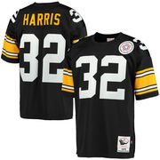 Franco Harris Pittsburgh Steelers Mitchell & Ness 1975 Throwback Authentic Jersey - Black