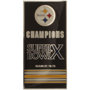 Pittsburgh Steelers Super Bowl X Banner Pins