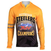 Pittsburgh Steelers Klew On the Fifty Matchup Hooded Long Sleeve T-Shirt - Gold