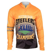Pittsburgh Steelers Klew On the Fifty Super Bowl XLIII Matchup Hooded Long Sleeve T-Shirt - Black