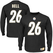 Le'Veon Bell Pittsburgh Steelers Eligible Receiver II Name and Number Long Sleeve T-Shirt - Black