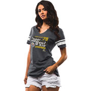 Pittsburgh Steelers Majestic Women's On The Fifty Meant To Win T-Shirt - Charcoal