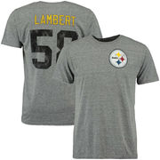 Jack Lambert Pittsburgh Steelers NFL Pro Line Retired Player Name & Number T-Shirt - Gray