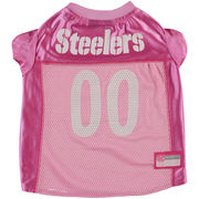 Pittsburgh Steelers Mesh Dog Jersey - Pink
