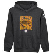 Pittsburgh Steelers Youth On the Fifty City Champions Pullover Hoodie - Charcoal