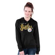 Pittsburgh Steelers G-III 4Her by Carl Banks Women's Wildcat Full Zip Hoodie - Black