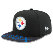 Pittsburgh Steelers New Era Super Bowl X On The Fifty Jumbo Vize Original Fit 9FIFTY Adjustable Hat - Black