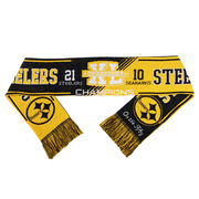 Pittsburgh Steelers Super Bowl XL On the Fifty Acrylic Scarf