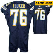 D.J. Fluker San Diego Chargers Fanatics Authentic Game Used Blue #76 Jersey from Week 5 vs Pittsburgh Steelers on 10/12/15