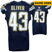 Branden Oliver San Diego Chargers Fanatics Authentic Game Used Blue #43 Jersey from Week 5 vs Pittsburgh Steelers on 10/12/15
