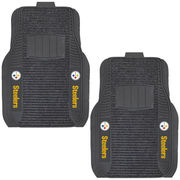 Pittsburgh Steelers Two-Piece Deluxe Car Mat Set