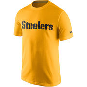 Pittsburgh Steelers Nike Essential Wordmark T-Shirt - Gold