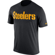Pittsburgh Steelers Nike Legend Wordmark Essential 3 Performance T-Shirt - Black