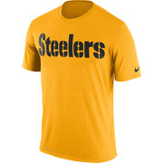 Pittsburgh Steelers Nike Legend Wordmark Essential 3 Performance T-Shirt - Gold