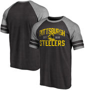 Pittsburgh Steelers NFL Pro Line Timeless True Classic Script Tri-Blend T-Shirt - Black
