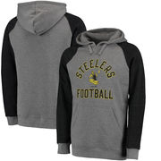 Pittsburgh Steelers NFL Pro Line Timeless Comfort Script Hoodie - Gray