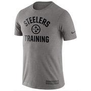 Pittsburgh Steelers Nike Training Performance T-Shirt - Heathered Gray