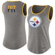 Pittsburgh Steelers Nike Women's Standard Tri-Blend Tank Top - Gray