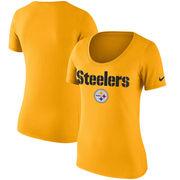 Pittsburgh Steelers Nike Women's Lockup T-Shirt - Gold