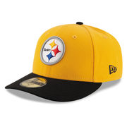Pittsburgh Steelers New Era 2T Patched Low Profile 59FIFTY Fitted Hat - Gold/Black
