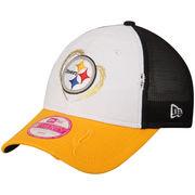 Pittsburgh Steelers New Era Women's Truck Mixer 9TWENTY Adjustable Hat - White/Gold