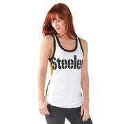Pittsburgh Steelers G-III 4Her by Carl Banks Women's Countdown Mesh Tank Top - White