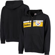Pittsburgh Steelers Majestic Touchback Full-Zip Hoodie - Black