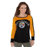 Pittsburgh Steelers Touch by Alyssa Milano Women's Playoff T-Shirt - Black