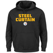 Pittsburgh Steelers Majestic Hot Phrase Pullover Hoodie - Black