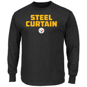 Pittsburgh Steelers Majestic Hot Phrase Long Sleeve T-Shirt - Black