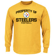 Pittsburgh Steelers Majestic Property Of Long Sleeve T-Shirt - Gold