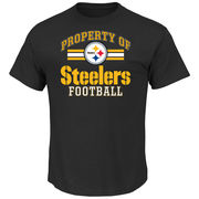 Pittsburgh Steelers Majestic Property Of T-Shirt - Black