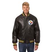 Pittsburgh Steelers JH Design Leather Jacket - Black