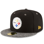 Pittsburgh Steelers New Era Shadow Tech 59FIFTY Fitted Hat - Black