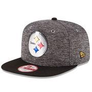 Pittsburgh Steelers New Era Draft Original Fit 9FIFTY Snapback Adjustable Hat - Heather Gray