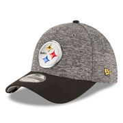 Pittsburgh Steelers New Era Youth Draft 39THIRTY Flex Hat - Heather Gray