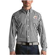 Pittsburgh Steelers Antigua Alliance Woven Long Sleeve Button-Down Shirt - Black