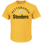 Pittsburgh Steelers Majestic For All Time T-Shirt - Gold
