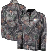 Pittsburgh Steelers Majestic The Woods Half Zip Jacket - Camo