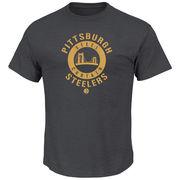 Pittsburgh Steelers Majestic Keep Score T-Shirt - Charcoal