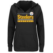 Pittsburgh Steelers Majestic Women's Self-Determination Pullover Hoodie - Black