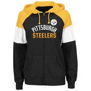 Pittsburgh Steelers Majestic Women's Hot Route Full-Zip Hoodie - Black