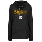 Pittsburgh Steelers Majestic Women's Speed Fly Pullover Hoodie - Black