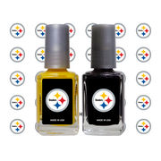Pittsburgh Steelers 2-Pack Nail Polish and Decal Set
