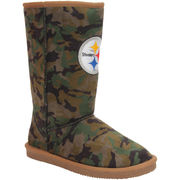 Pittsburgh Steelers Cuce Women's Defeater Camo Boots