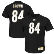 Antonio Brown Pittsburgh Steelers Majestic Big & Tall Eligible Receiver Name & Number T-Shirt - Black