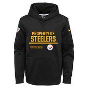 Pittsburgh Steelers Nike Youth Property Of Circuit Performance Hoodie - Black