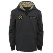 Pittsburgh Steelers Nike Youth Salute to Service Performance Pullover Hoodie - Charcoal